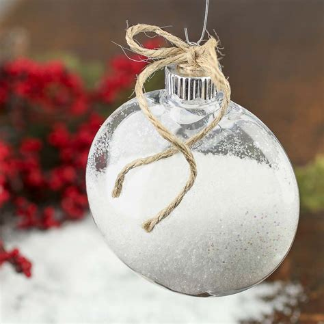 mm clear plastic disk ornament acrylic fillable ornaments craft supplies