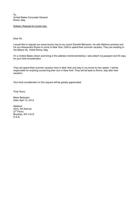 Visa Welcome Letter letter of invitation sle canada visa invitation