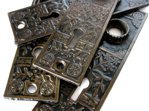 Antique Door Knob Backplates antique door knob backplates eastlake ornate cast iron back