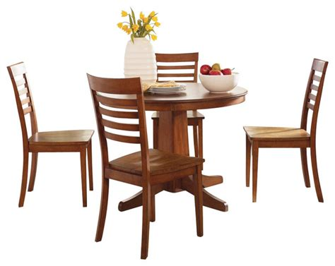 liberty furniture dining room sets liberty furniture cafe collections cognac 5 piece 42 inch