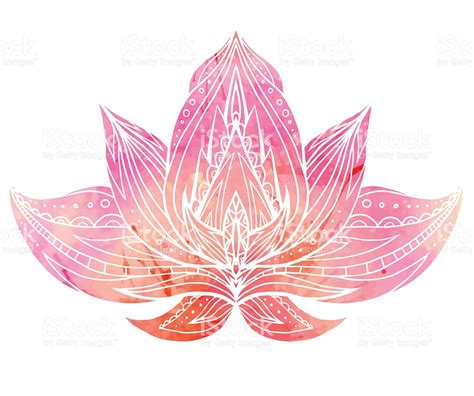 free lotus background pattern color lotus with boho pattern and watercolor background