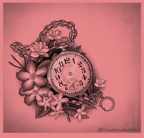pocket watch tattoos designs pocket and flowers by xxmortanixx on deviantart