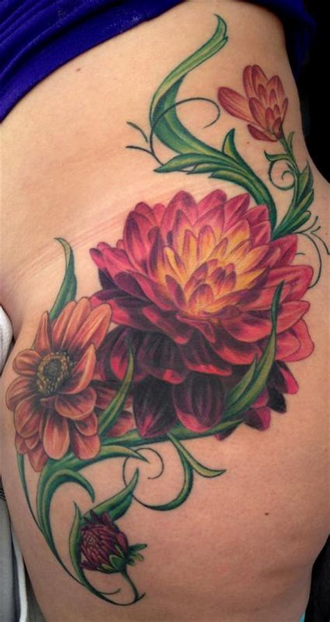 black dahlia tattoo dahlia by pepper tattoonow
