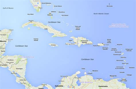 map caribbean map of caribbean large photos and compact travel guides