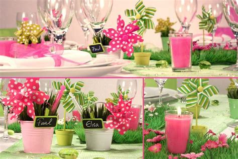 theme rose et vert mariage fuchsia vert anis d 233 corations d ambiance table