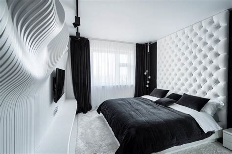 Designer Bedroom Decor Fascinating Bedroom Design Ideas Using White And Black Color Theme Decor Ideas Roohome
