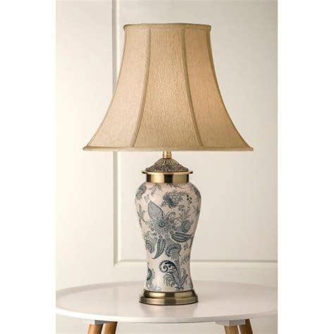 943 chester antique brass and porcelain table lamp