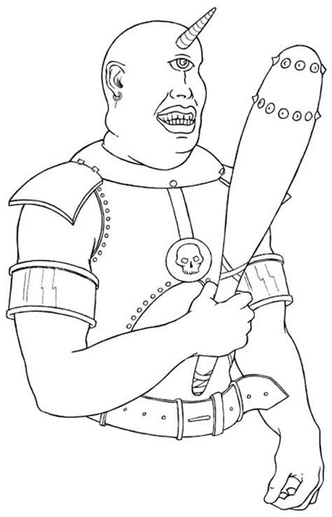 Greek Cyclops Coloring Page Sketch Coloring Page Cyclops Coloring Pages