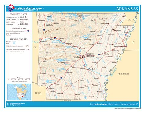 arkansas on the map of usa large detailed map of arkansas state arkansas state