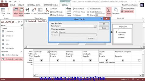 a quick tutorial on queries in microsoft access 2007 access 2013 tutorial make table queries microsoft training