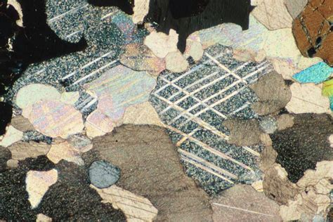 Calcite In Thin Section by Twinning