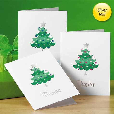 Buy Gift Card Get One Free - trendy tree foil thank you cards colorful images