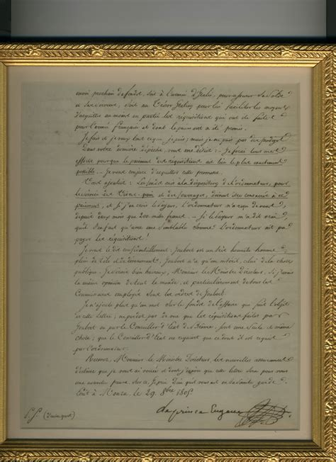 Josephine Divorce Letter Napoleonic Documents And Manuscripts Eugene De