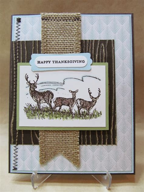 Thanksgiving Handmade Cards - savvy handmade cards thanksgiving card with deer