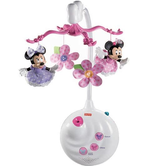 Disney Crib Mobile by Fisher Price Disney Baby Minnie Mouse Projection Mobile