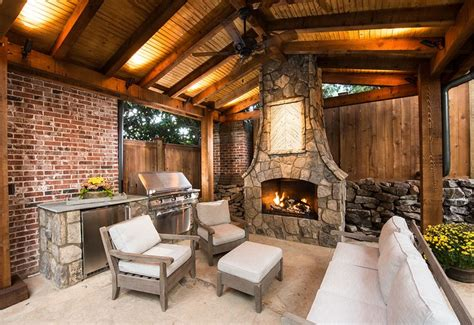outdoor pavilions with fireplaces custom created outdoor kitchens of brick and