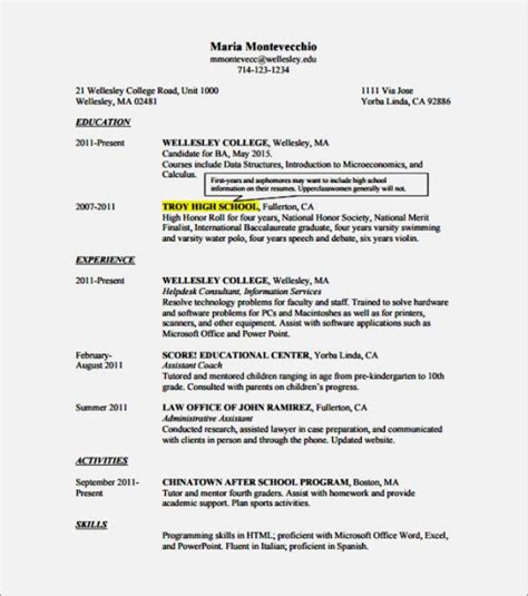 free student resume templates microsoft word templatez234 free best templates and forms
