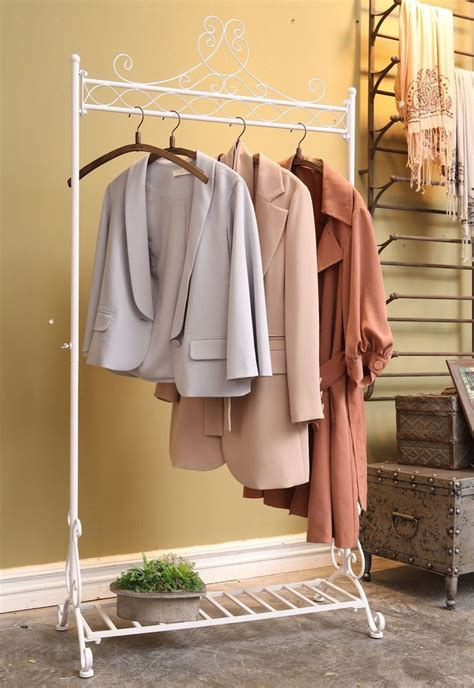 vintage clothes rail garment rack clothing hanging stand