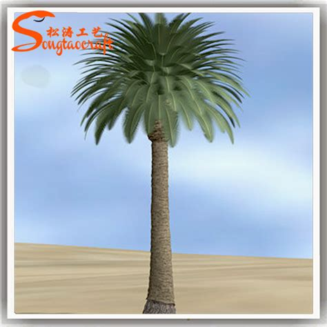 dubai style of outdoor decorative palm trees plastic
