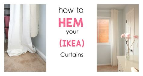 how to hem ikea curtains the easiest way to hem ikea curtains this bold home