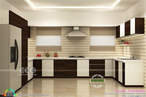 kitchen living bedroom interior designs kerala home