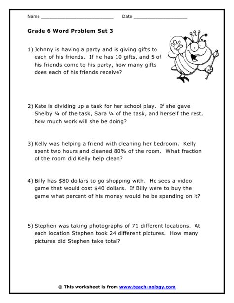Sixth Grade Math Word Problems Worksheets by K5 Learning Grade 3 Math Word Problems Worksheet Grade 3