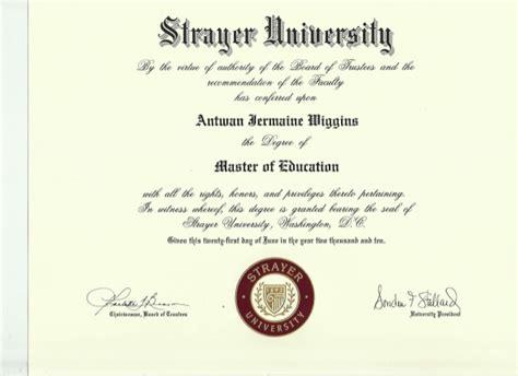 Strayer Mba Program by Strayer Master Of Education Degree