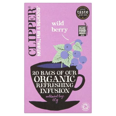 Clipper Detox Tea Review by Clipper Organic Berry Infusion 20 Per Pack From Ocado