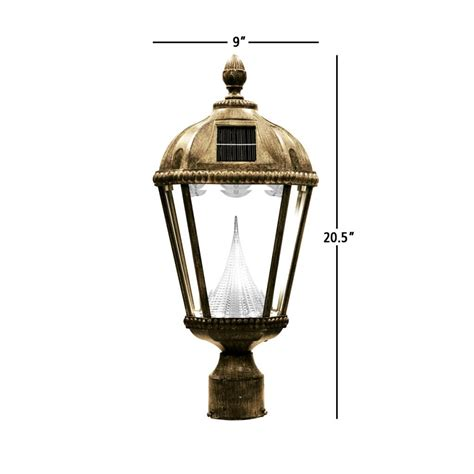 Solar Light Fixture Gama Sonic Royal Solar Outdoor Led Light Fixture 3 Inch Fitter For Post Mount