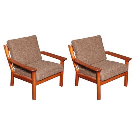 danish armchairs danish wooden armchairs pair at 1stdibs