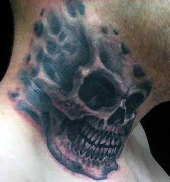 tattoo on neck skull fastrollharcu skull head tattoos