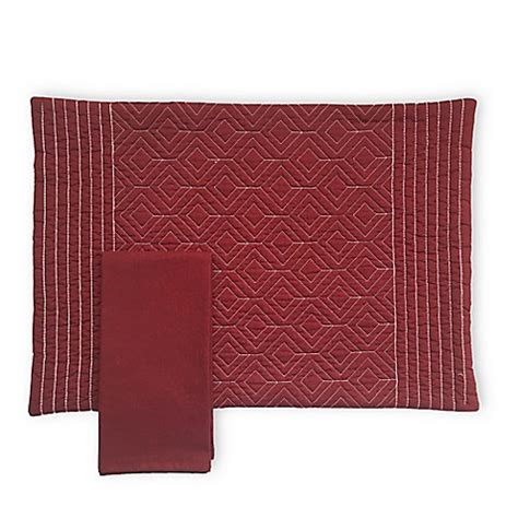 bed bath and beyond placemats quilted placemat and napkin collection in burgundy bed