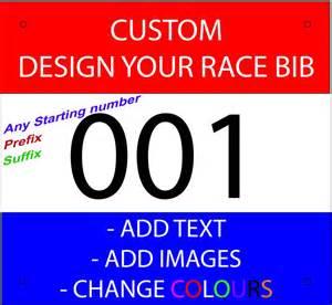 race number template race bibs race numbers custom printed add text add