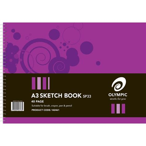 sketch book a3 zsp142461 olympic sketch book a3 perforated spiral bound