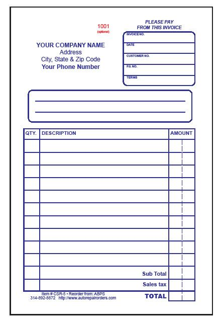 Mechanic Receipt Template Chakrii Auto Repair Receipt Template Free