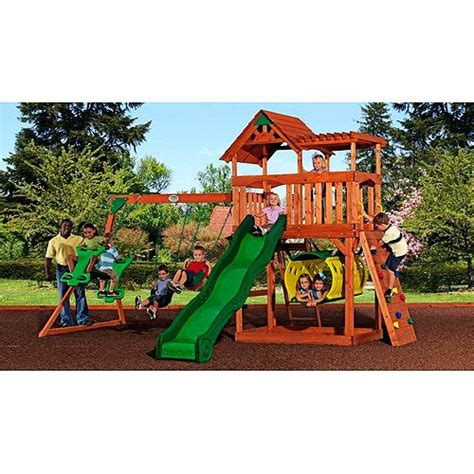 tucson cedar wooden swing set want something like this cheaper at walmart than at bjs