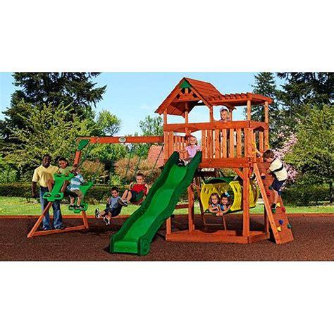 backyard discovery tucson cedar swing set want something like this cheaper at walmart than at bjs