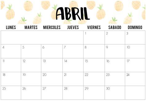 Calendario 7 De Abril The Random Chaos Calendarios De Abril 2016 Imprimibles