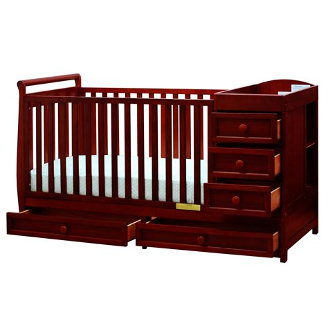 convertible crib and changer combo 3 in 1 crib and changer combo cherry