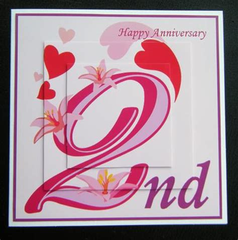 2 glorious years 2nd anniversary card cup124146_698