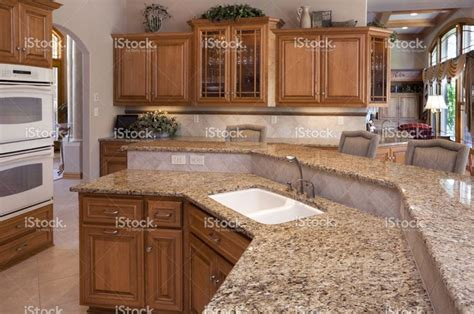oak cabinets with granite custom luxury eat in kitchen with granite counters oak
