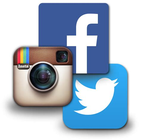 fb instagram follow us on facebook and twitter