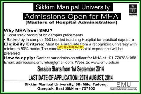 Mba In Hospital Management Distance Education In Ignou by Sikkim Manipal Of Health And