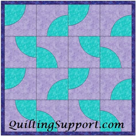 drunkards path template pattern