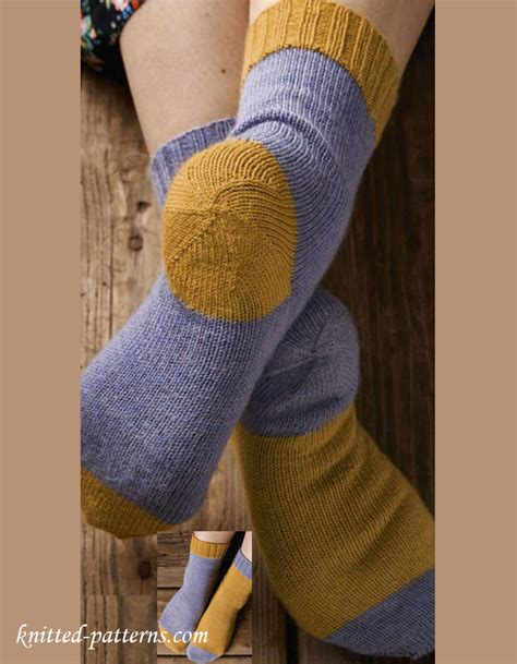 pattern for knitted heel less socks afterthought heel knitting socks