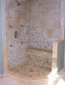 charming Mosaic Tile Designs For Kitchens #1: quartz-pebble-tile-shower.jpg