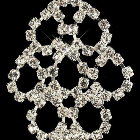 rhinestone for jewelry bridal silver rhinestone chandelier earrings for