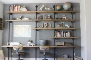 Diy Desk With Shelves by 14 Ways To Get Organized With Diy Industrial Shelving