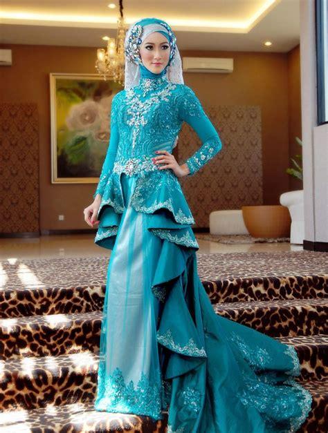 Gaun Pengantin Gliter gaun pengantin muslim terbaru 2015