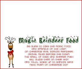 Magic reindeer food labels diy paper bag reindeer food magic